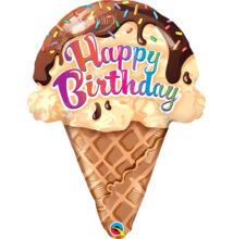 Fagyi - Ice Cream Cream Cone Születésnapi Fólia Léggömb