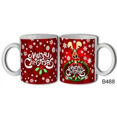 Merry Christmas Rénszarvas Bögre