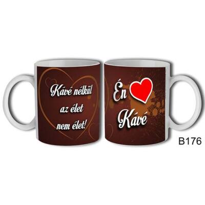 I Love Kávé felíratú bögre