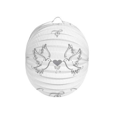 Esküvői Galambok Gömb Lampion - 22 cm