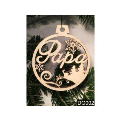 Karácsonyfa Dísz - Papa