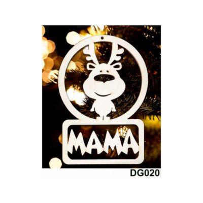 Karácsonyfadísz - Rénszarvas - Mama