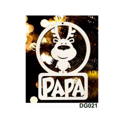 Karácsonyfadísz - Rénszarvas - Papa