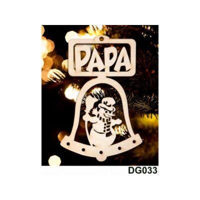 Karácsonyfadísz - Csengő - Papa