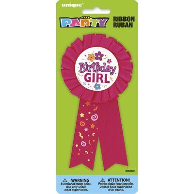Kitűző - Birthday Girl Feliratú Szülinapi Szalagos Parti Kitűző