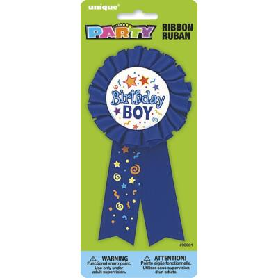 Kitűző - Birthday Boy Feliratú Szülinapi Szalagos Parti Kitűző