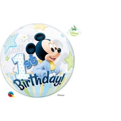 22 inch-es Bubbles Disney Bubbles Mickey Mouse Első Szülinapi Lufi