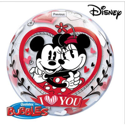 22 inch-es Mickey&Minnie I Love You Szerelmes Bubbles Lufi