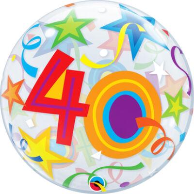 22 inch-es Bubbles 40 Brilliant Stars Szülinapi Számos Bubbles Lufi