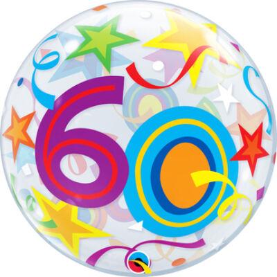 22 inch-es Bubbles 60 Brilliant Stars Szülinapi Számos Bubbles Lufi