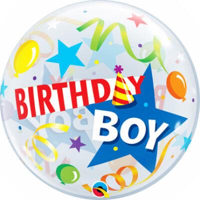 22 inch-es Bubbles Birthday Boy Party Hat Szülinapi Bubbles Lufi