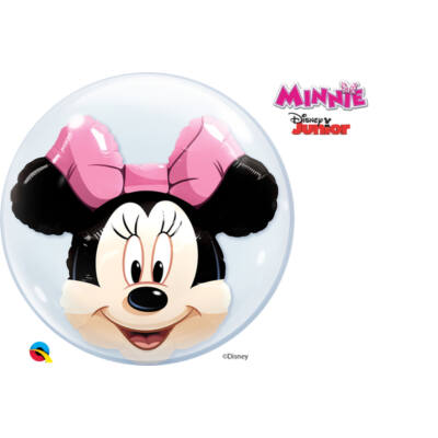 24 inch-es Disney Minnie Mouse Double Bubbles Lufi