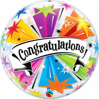 22 inch-es Congratulations Banner - Gratulálunk Ballagási Bubble Lufi