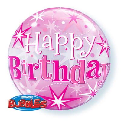 22 inch-es Birthday Starburst Sparkle Szülinapi Lufi