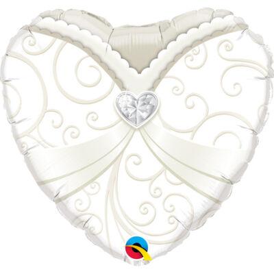 Menyasszonyi Ruha Esküvői Szív Fólia Léggömb