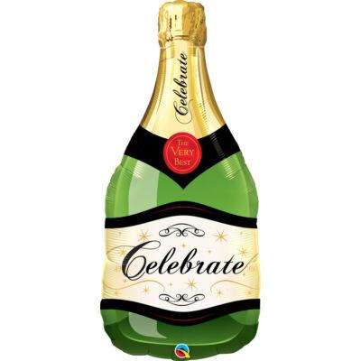 Pezsgősüveg - Champagne Bottle Celebrate Fólia Léggömb