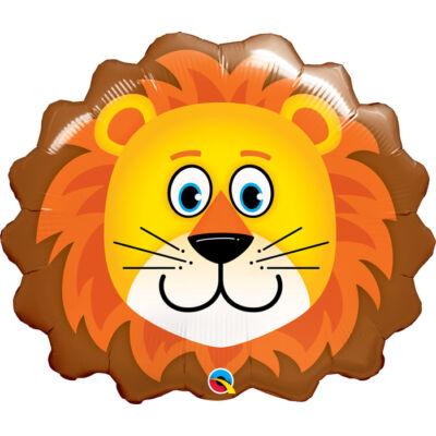 Oroszlán Fej - Lovable Lion Fólia Léggömb