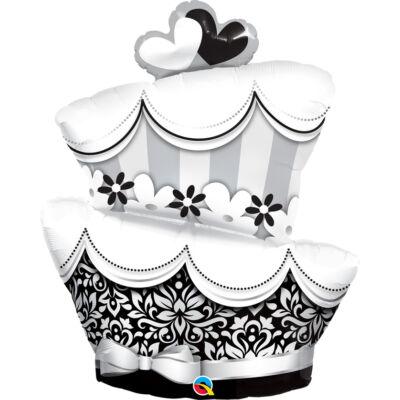 Fun & Fabulous Wedding Cake Esküvői Fólia Léggömb