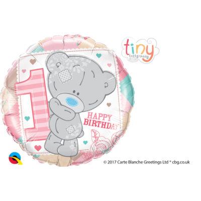 Macis - Tatty Teddy Birthday Szíves Első Születésnapi Fólia Léggömb