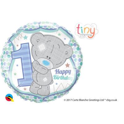 Macis - Tatty Teddy Birthday Csillagos Első Születésnapi Fólia Léggömb