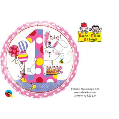 1. Szülinapi Nyuszis Születésnapi Számos Fólia Léggömb
