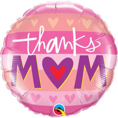 Thanks M(Heart)M - Köszönöm Anya, Anyák Napi Fólia Léggömb
