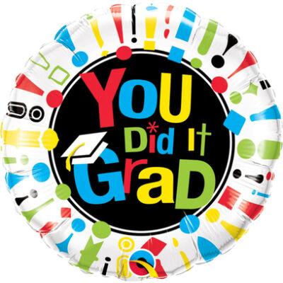 You Did It Grad! Ballagási Fólia Léggömb