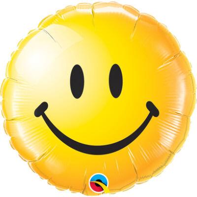 Sárga Mosolygós Arc - Smile Face Yellow Fólia Léggömb