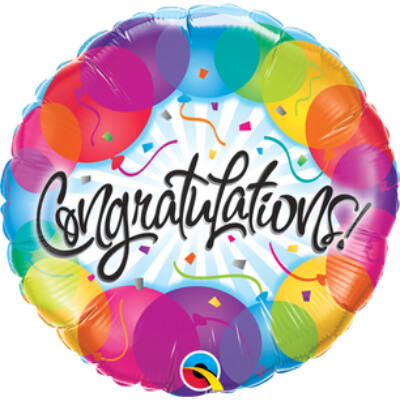Gratulálunk - Congratulations Balloons Fólia Léggömb