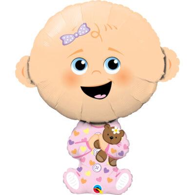 Baby Girl - Kislányos Baba Fólia Léggömb Babaszületésre