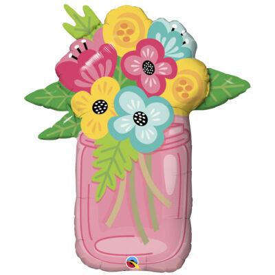 Mason Jar Bouquet - Virágcsokor Super Shape Fólia Léggömb