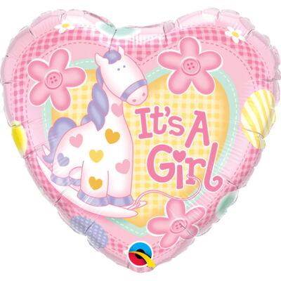 Lány Póni - It is A Girl Soft Pony Bébi Fólia Léggömb Babaszületésre
