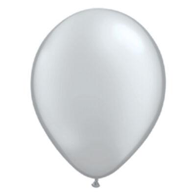 Ezüst Színű Kerek Gumi Lufi - 28 cm
