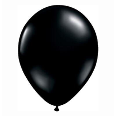 Fekete Színű Kerek Gumi Lufi - 28 cm