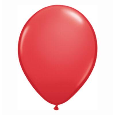 Piros Színű Kerek Gumi Lufi - 28 cm