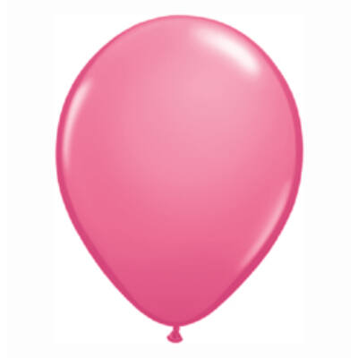 Rózsaszín Színű Kerek Gumi Lufi - 28 cm