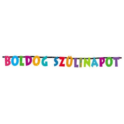 Boldog Szülinapot Színes Betűfüzér - 2,3 m