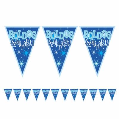 Boldog Szülinapot Kék Fiús Zászlófüzér - 5 m