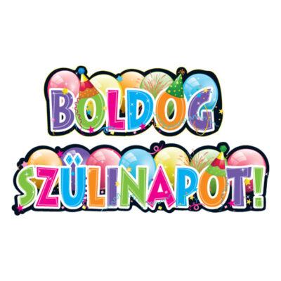 Boldog Szülinapot Felíratú Banner - 147 cm x 27 cm
