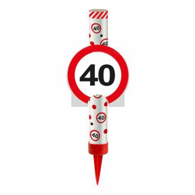 40-es Számos Sebességkolátozó Tortatüzijáték