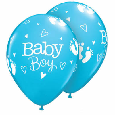 Baby Boy Footprints & Hearts Robins Egg Blue Lufi - 28 cm
