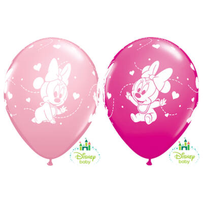 Baby Minnie Hearts Pink & Berry Lufi - 28 cm