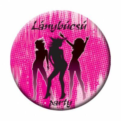 Lánybúcsú Pink Kitűző - 5,5 cm
