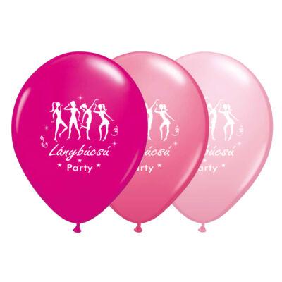 11 inch-es Táncolós Lánybúcsú Party Assorted Fehérrel Lufi (6 db/csomag)