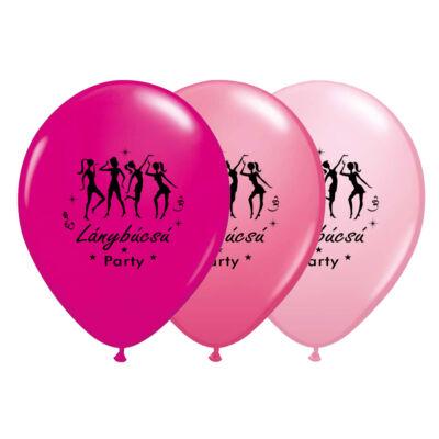 11 inch-es Táncolós Lánybúcsú Party Lufi Fekete Printelés
