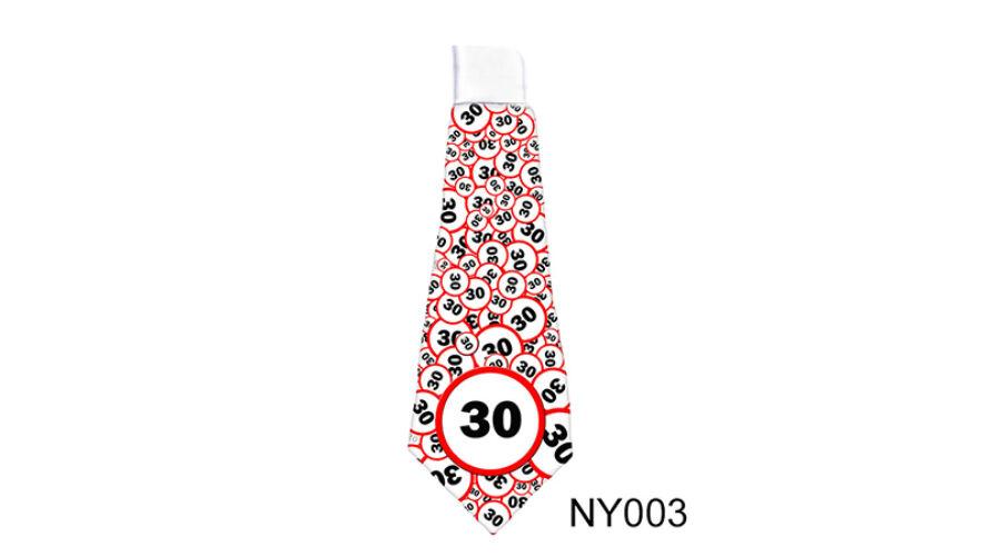 30-as Sebességkorlátozós Nyakkendő - Sebességkorlátozó Szülinapi ... 1b4d1c6f88